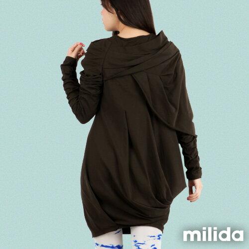 【Milida,全店七折免運】-秋冬單品-洋裝款-立體肩袖造型剪裁 5