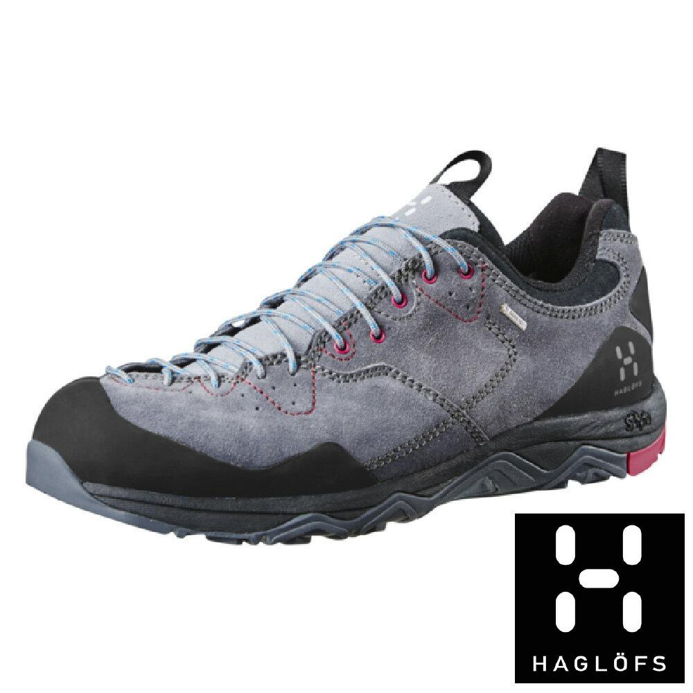 【瑞典Haglofs】ROCKER LEATHER女GT防水登山鞋-花崗灰/火山紅 戶外 登山 健行 露營 防水透氣 GORE-TEX 491670