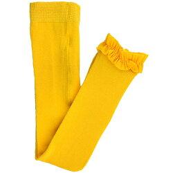 【hella 媽咪寶貝】美國 RuffleButts 小公主甜美荷葉邊內搭褲(襪)_黃色(RBRT026)