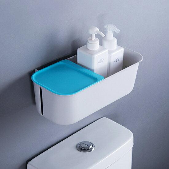 ♚MY COLOR♚簡約免打孔壁掛式收納架 大容量 浴室 置物架 衛生間 紙巾盒 馬桶【Z91】