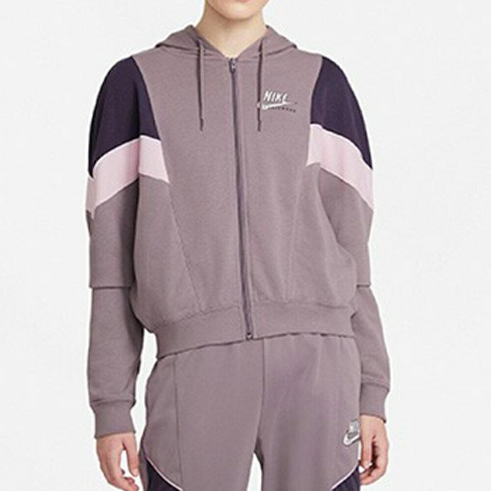 【領券最高折$400】【現貨】Nike NSW 女裝 外套 連帽 休閒 訓練 拼接 紫【運動世界】CZ8601-531