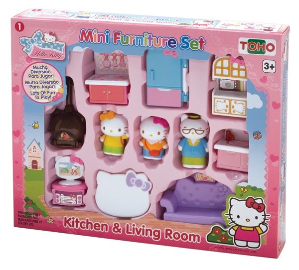 【Hello Kitty】KT迷你家具組-廚房與客廳 KT18057