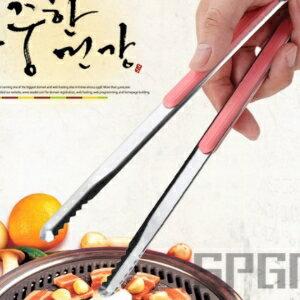 美麗大街【CF62】韓國燒烤夾不銹鋼烤肉夾食品夾子麵包夾防燙防滑牛排夾廚房餐夾子