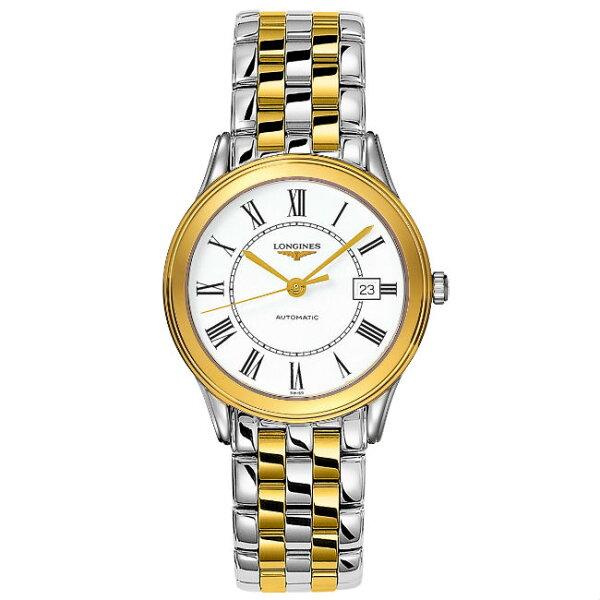 LONGINES浪琴表L47743217羅馬旗艦經典腕錶白面35.6mm