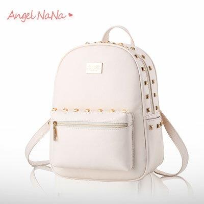 後背包。AngelNaNa歐美風 金屬鉚釘 休閒 女雙肩包【B165】
