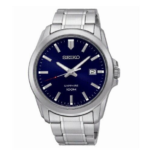 新年特惠4折起  SEIKO 經典時尚男腕錶/藍面/SGEH47P1(7N42-0GD0B) 情人節寵愛禮