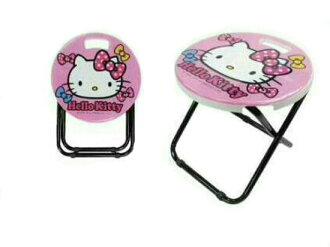 【真愛日本】16072800001鐵管矮凳椅-KT大臉蝴蝶結粉  Hello Kitty 凱蒂貓 可愛凳子 椅凳