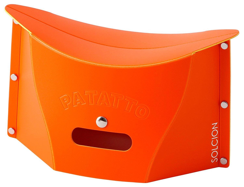 X射線【C642651】PATATTO mini 超輕量可折疊攜帶式椅子S-橘,露營椅/收納椅/造型椅/折疊椅/凳子/矮凳/板凳/椅子