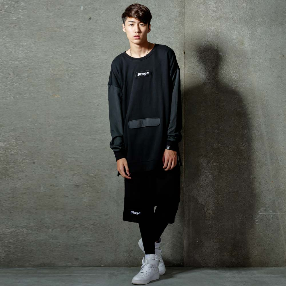 STAGE ARMOUR LS SWEATER 黑色 / 軍綠色 兩色 1
