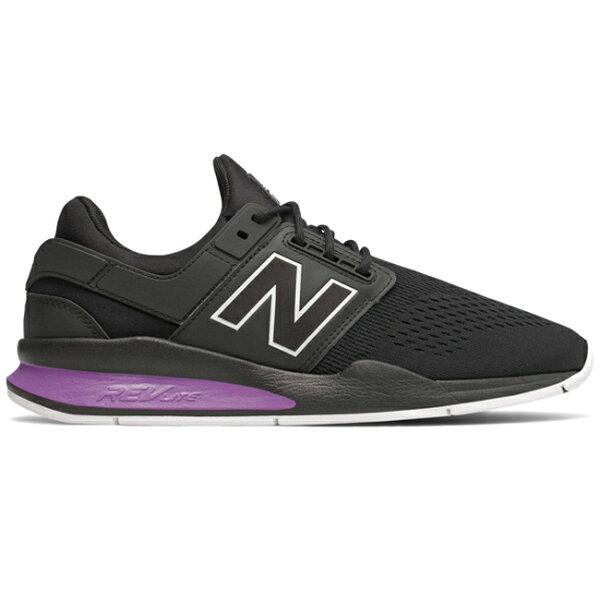 NewBalance247男鞋慢跑休閒襪套網布清亮透氣增厚內底黑紫【運動世界】MS247TO