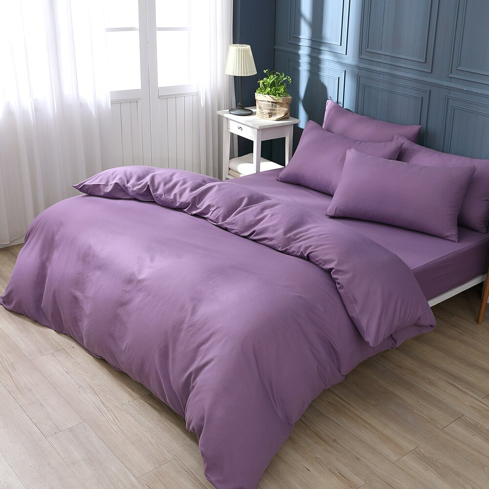 素色床包 被套 夢幻紫  單人 雙人 加大 特大 純色 玩色主義 日式無印 枕頭套 柔絲棉 台灣製  BEST貝思特