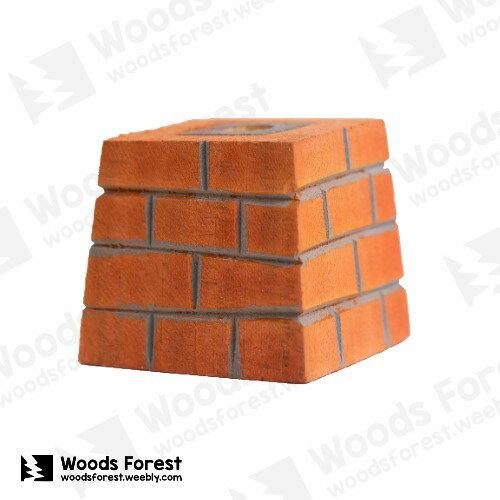 【紅磚塊】木雕筆專用筆座 (單孔)