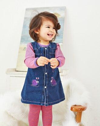 ☆Babybol☆韓版童裝背心牛仔連衣裙 上衣 褲襪三件式套裝【24169】 0