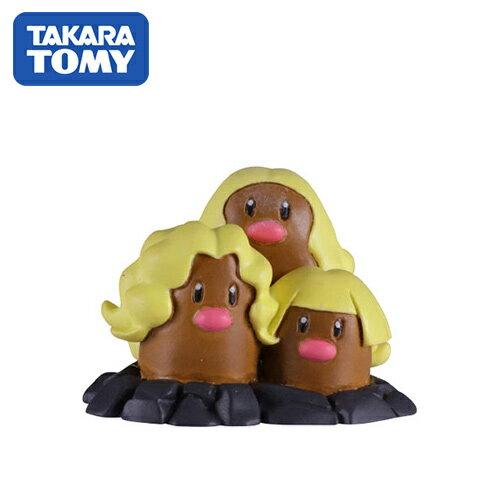 【日本正版】三地鼠 寶可夢 造型公仔 阿羅拉 特化版 MONCOLLE-EX 神奇寶貝 TAKARA TOMY - 976233