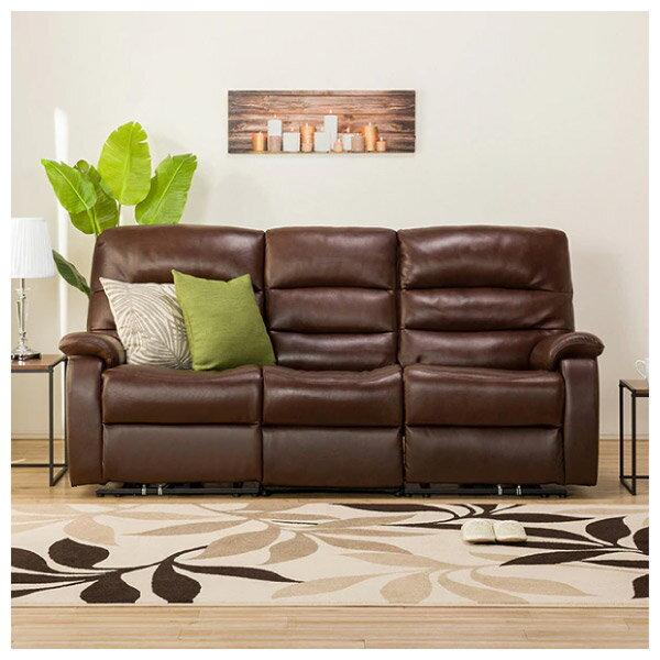 ◎(OUTLET)全皮3人用頂級電動可躺式沙發 BELIEVER ROYAL DBR 福利品 NITORI宜得利家居 1