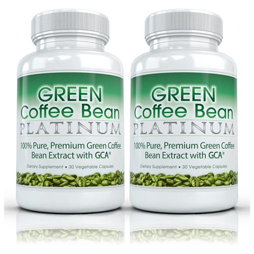 Green Coffee Bean Platinum (2 Bottles) Pure Green Coffee Extract Weight Loss, Fat Burning Supplement