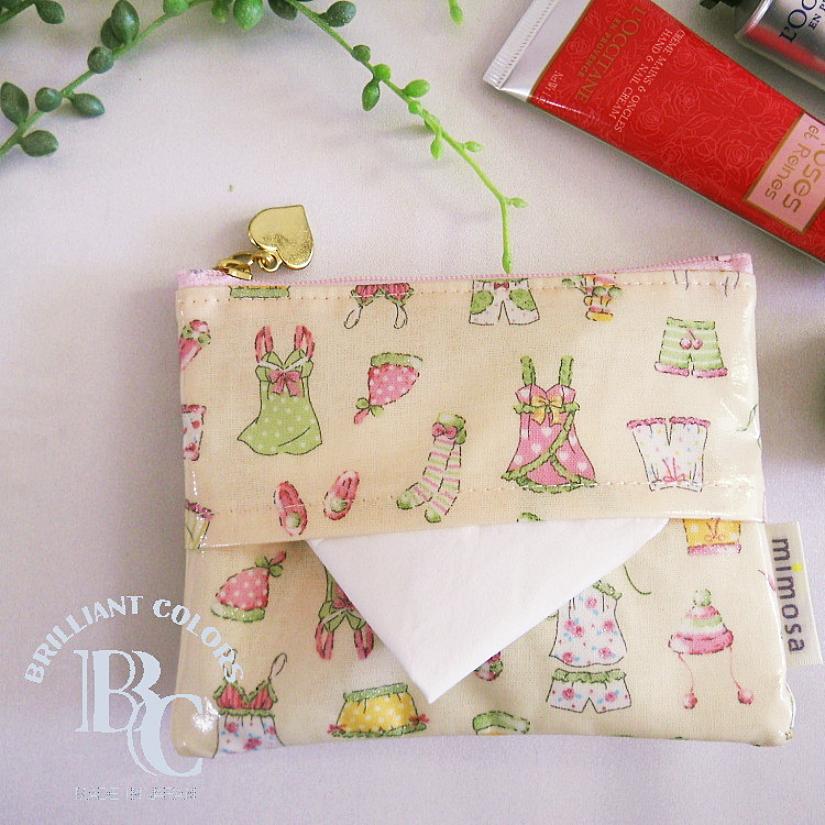 日本mimosa面紙包 零錢包 化妝包 (睡衣派對) 100%日本製
