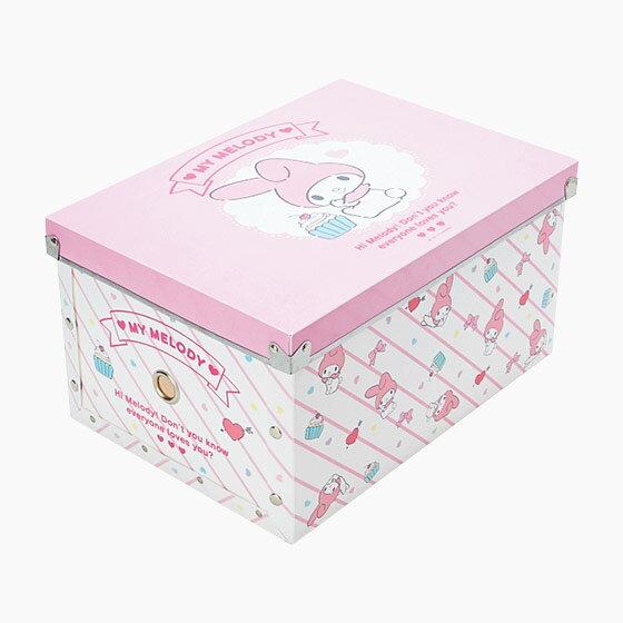 【真愛日本】17070600006 組合式收納箱M-MM粉+AAUB 三麗鷗 melody美樂蒂 收納盒 置物 日用品