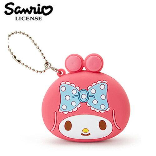 【日本正版】美樂蒂 矽膠 零錢包 吊飾 小物收納 My Melody 三麗鷗 Sanrio - 618004