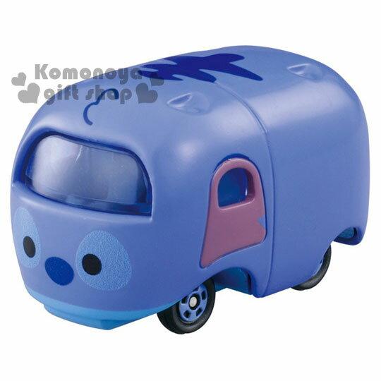 〔小禮堂〕迪士尼 TSUM TSUM 史迪奇 TOMICA小汽車《藍.可堆疊》經典造型值得收藏
