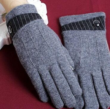 ☆觸控手套男羊毛手套-商務保暖加厚可觸屏時尚配件72q8【獨家進口】【米蘭精品】