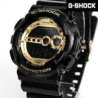 G-SHOCK手錶 黑金防水電子錶 柒彩年代 casio【NECG13】GD-100GB-1DR