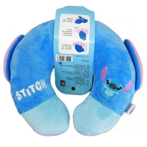 【真愛日本】15063000032 舒壓頸枕-ST 迪士尼 星際寶貝 史迪奇 頸枕 枕頭 居家用品 汽車用品