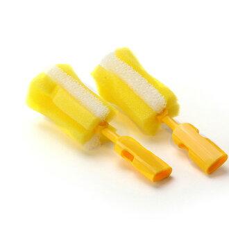 Piyo Piyo黃色小鴨 - 組合式泡棉奶瓶刷頭2入