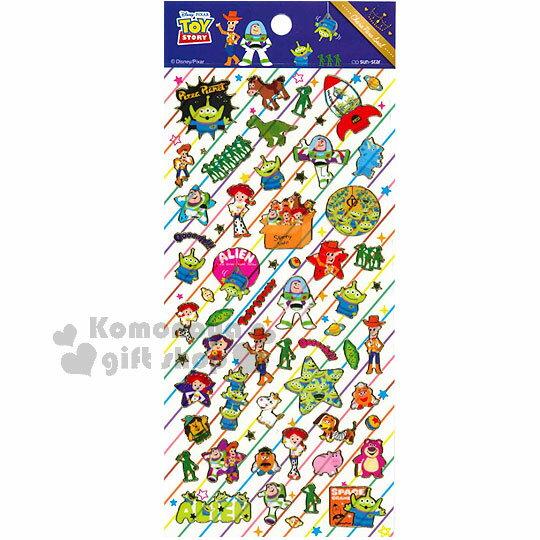 〔小禮堂〕玩具總動員 貼紙~彩條紋.透明.星星.多角色.金邊~