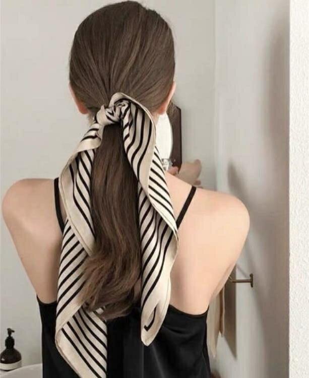 韓版復古防曬小絲巾職業小方巾頭巾女裝飾領巾發帶