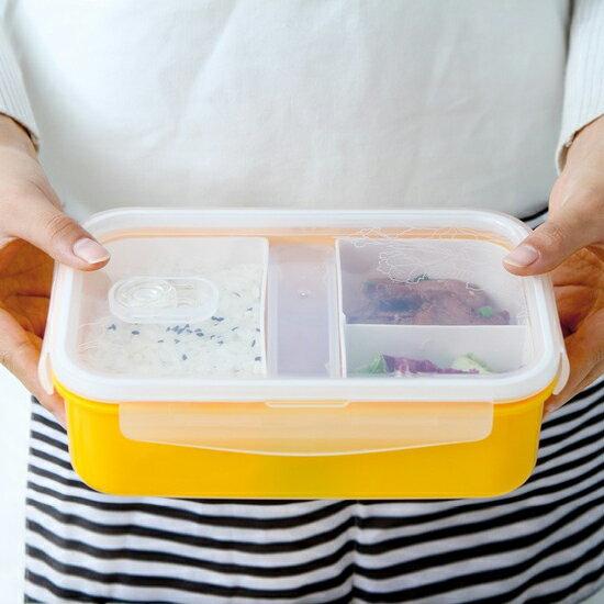 ?MY COLOR?多層分隔保鮮飯盒 密封 便當 卡扣 菜盒 野餐 三明治 露營 食物 外出【M126-1】