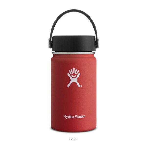 【【蘋果戶外】】HydroFlask寬口12oz355ml紅美國不鏽鋼保溫保冰瓶保冷保溫瓶不含雙酚A
