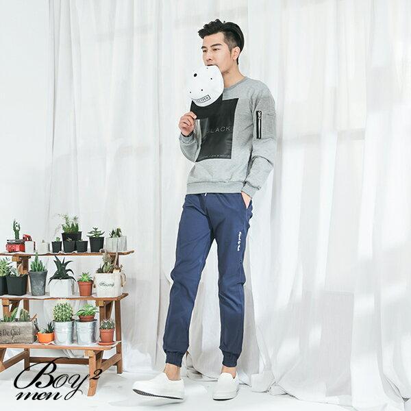 ☆BOY-2☆ 【JN7477】美式BLACK男裝長袖T恤 2