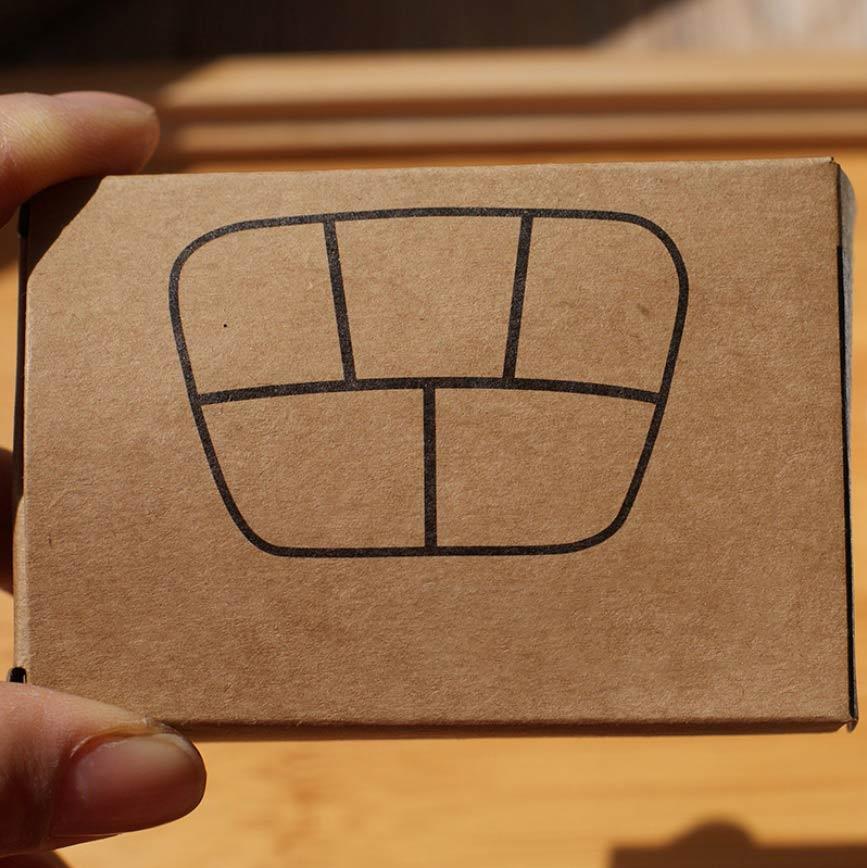 PS Mall 五格盒子塑膠便攜旅行盒子【J1630】 1