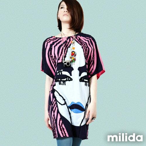 【Milida,全店七折免運】-秋高氣爽-洋裝款-拼貼洋裝 5