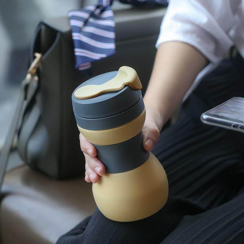 創意硅膠折疊水杯 伸縮隨手杯 辦公室情侶