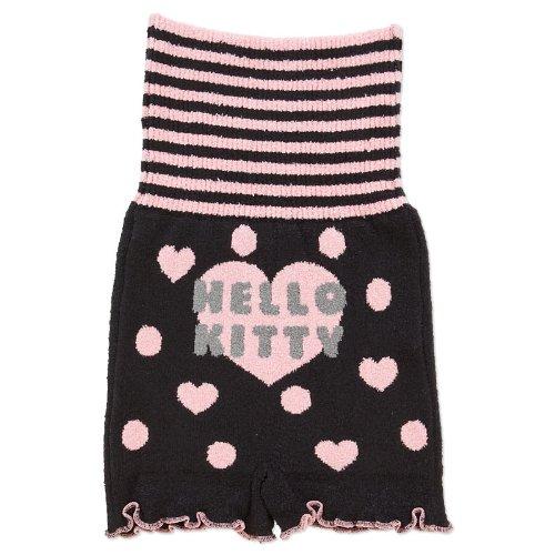 X射線【C512135】Hello Kitty 針織保暖腹褲-黑,居家睡褲/運動短褲/性感睡衣/居家服/內塑衣/內褲