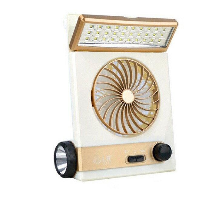 LED4合一太陽能風扇 四合一多功能太陽能風扇燈 30LED燈 露營燈 手電筒 護眼檯燈 釣魚燈涼風扇帳篷燈登山燈KIM
