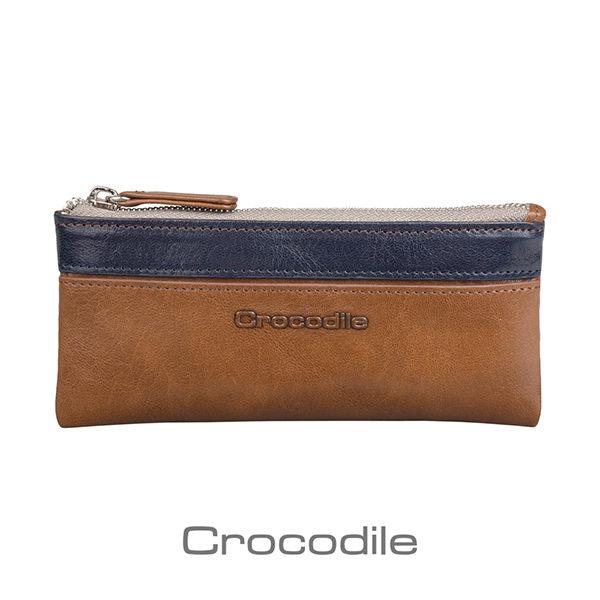 Crocodile Naturale 系列 Easy 輕巧零錢鑰匙兩用包 (咖色) 0103-08103-02
