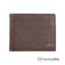 Crocodile 經典鱷魚壓紋短夾0103-4006