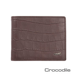 Crocodile 經典鱷魚壓紋短夾0103-4008