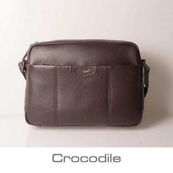 Crocodile Luster系列橫式斜背包 (L) 0104-07103