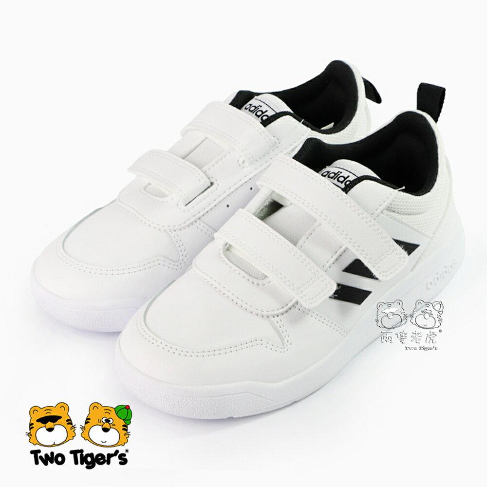 ADIDAS TENSAUR C 白色 皮革 魔鬼氈 中童鞋 NO.R4305
