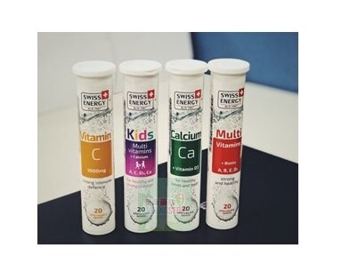 SWISS ENERGY  綜合維他命發泡錠  20顆/罐x2瓶(組)