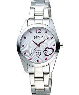 STAR時代錶 9T1603-161S-W愛戀心時尚腕錶/白面34mm