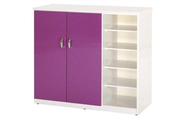 【石川家居】860-03(紫白色)鞋櫃(CT-317)#訂製預購款式#環保塑鋼P無毒防霉易清潔