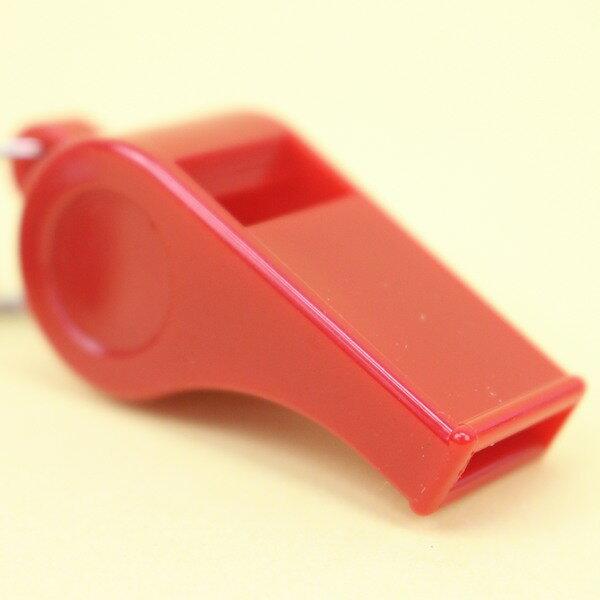 信億彩虹哨 塑料 口哨 哨子(附鈎+項鍊繩) / 一個入 { 定25 }  MIT製 1