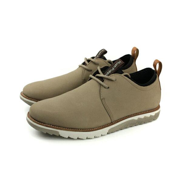 HUMAN PEACE:HushPuppies休閒鞋綁帶舒適寬楦咖啡色男鞋6173M179285no072