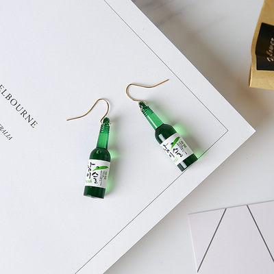PS Mall 韓版新款個性潮百搭時尚氣質掛鉤玻璃啤酒瓶耳環耳墜耳釘【G2134】