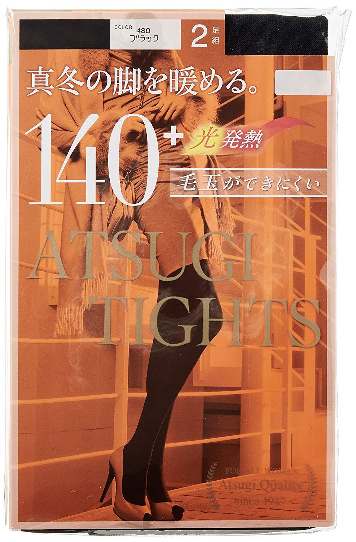 日本 ATSUGI TIGHTS 140D 光發熱 保暖褲襪 2雙/組 秋冬褲襪 舒適厚款 (日本製)【RH shop】日本代購